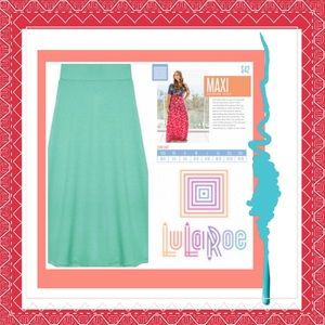 Lularoe Mint green maxi skirt 3X